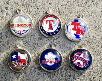 Six piece Texas Rangers pendants