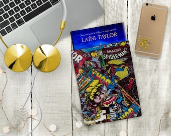 MARVEL Captain America Iron Man Thor Protective Padded Book Cover/Sleeve/Pouch Tablet iPad / Gifts for Her / Gifts for Him / Bookstagram