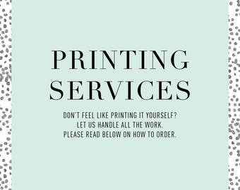 Printing Services | Invitations