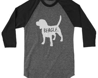 Beagle Baseball T-Shirt for Men & Women / Beagle Long Sleeve Shirt for Men and Women