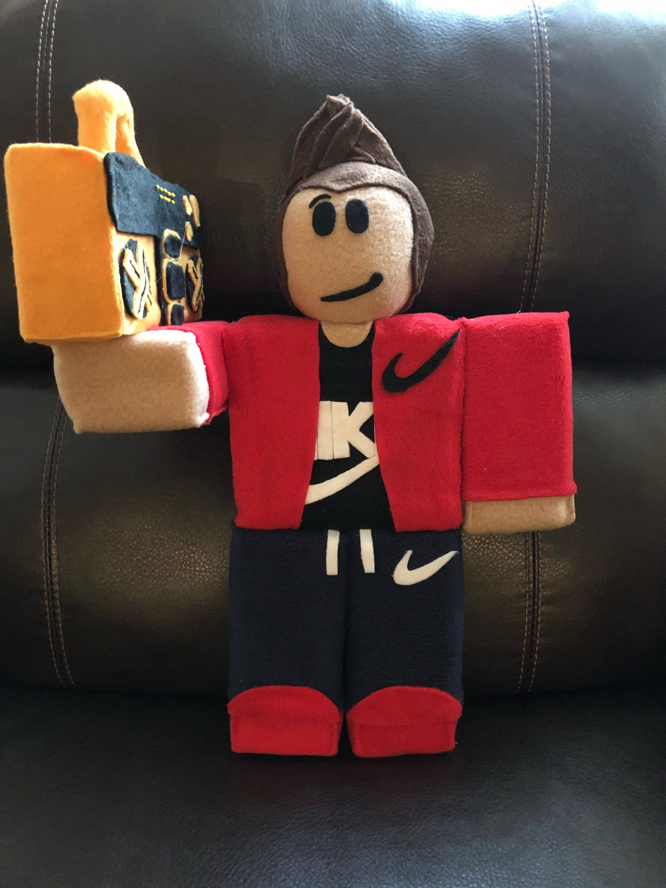Roblox inspired plushies custom make your own robloxian for How to make a t shirt on roblox