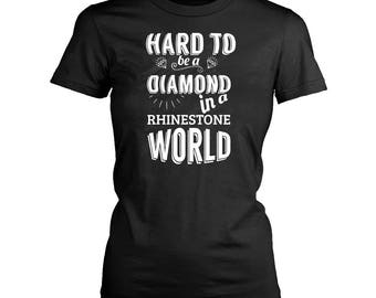 Diamond womens fit T-Shirt. Funny Diamond shirt.