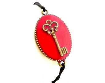 Stretch Bracelet red key