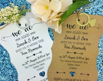 Wedding Vow Renewal Invitation, We Still Do, Wedding Anniversary Invitation