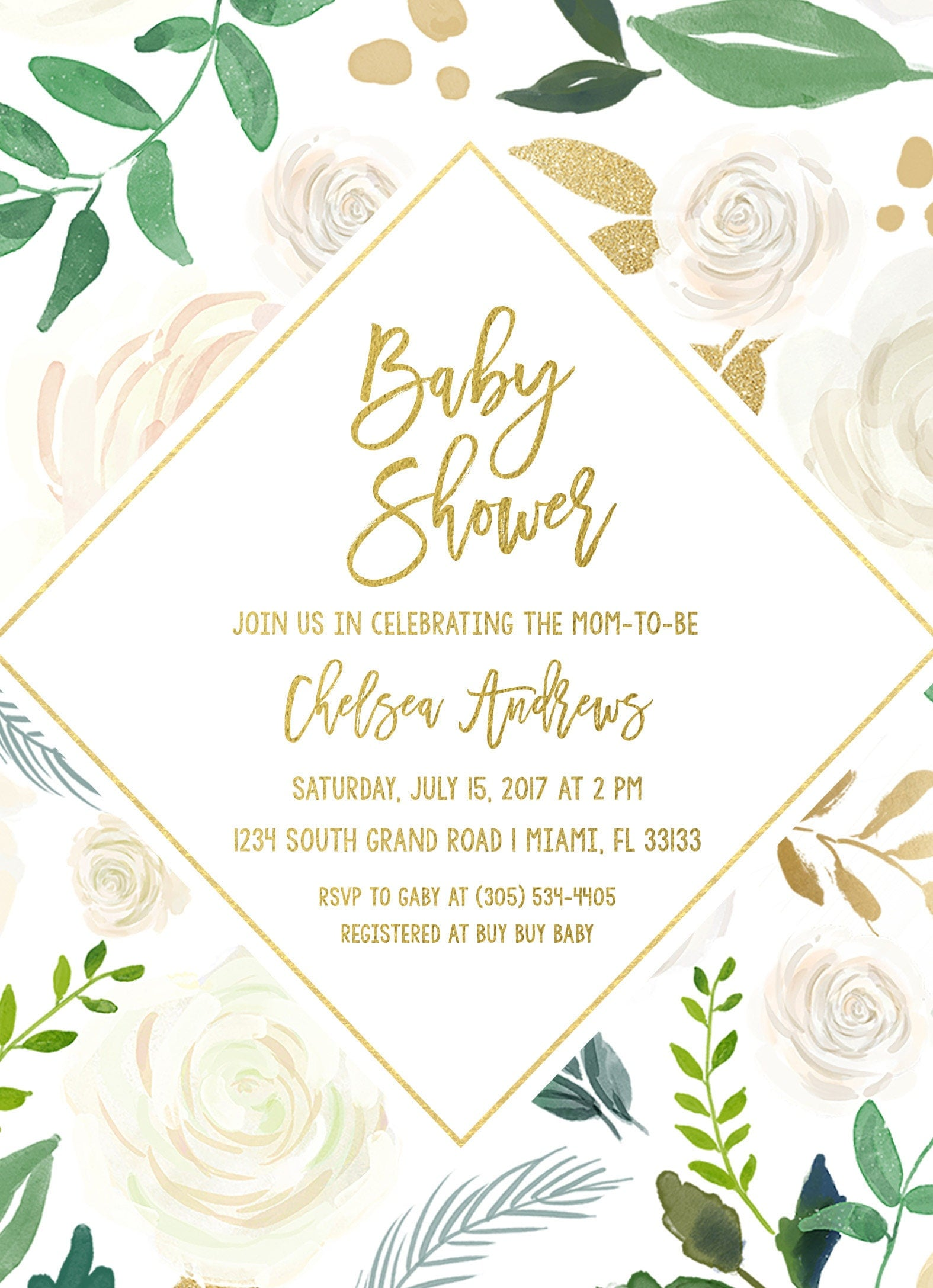 Baby Shower Brunch Invitation, Gender Neutral Baby Shower ...