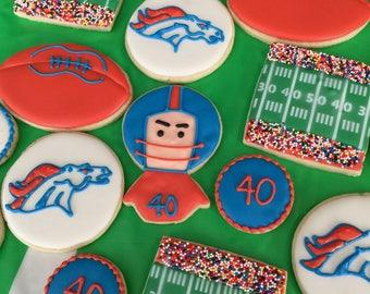 2 doz. Denver Broncos Football Cookies