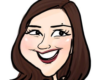 Full Color Personalized Digital Caricature!