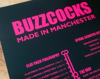 Buzzcocks - Made in Manchester NEW for 2018!!