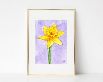 Daffodil DIGITAL DOWNLOAD, Spring Printable Art, Spring decor, Daffodils watercolor, spring flowers, Easter printable, Spring printable art