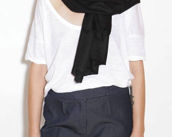Black cashmere scarf, pashmina scarf, black wool scarf, beautiful scarves, woman's scarf, long scarf, spring scarves, wide scarf, scarves