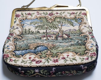 Vintage Tapestry Purse or Evening Bag, made in Western Germany