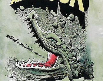 Back to School Sale: Alligator Movie POSTER (1980) Cult/Horror
