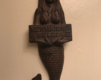 Cast Iron Mermaid wall hanging