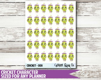Cricket Character 001 Planner Stickers