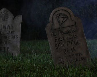 Customizable Haunted Mansion Inspired Tombstone - Style Two