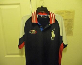 Men's Polo Ralph Lauren 2013 RLX US Open Tennis Dri Fit Polo Shirt XL