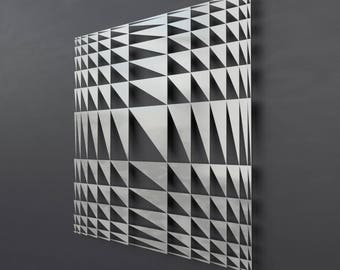 Geometric Metal Wall Art impulse metal wall art lighted wall art geometric wall