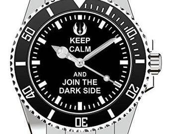 KEEP CALM AND JOIN THE DARK SIDE - Kiesenberg Uhr 1841