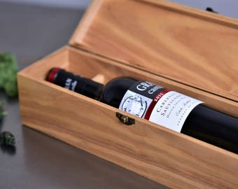 Personalised Wine box, Wooden Wine Box, Wedding Gift For Couple, Wedding Wine Box