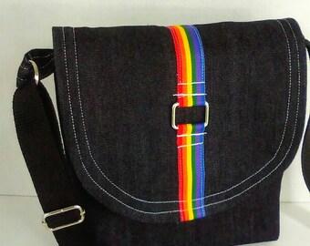Rainbow Crossbody Bag/Messenger Bag