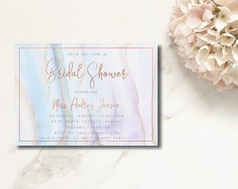 Beautiful Watercolor DIY Printable Bridal Shower Invitation