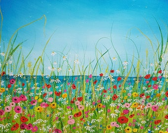 Summer at last. Original acrylic painting on box canvas.