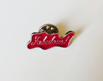 Sale | Fabulous | Sassy | Pink | Pin | Badge | Retro | Hipster | Upcycle | Accesory | Modify