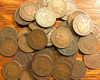 Indian Head Pennies (Cents)! Many Dates Available Please See Dropdown Menu.