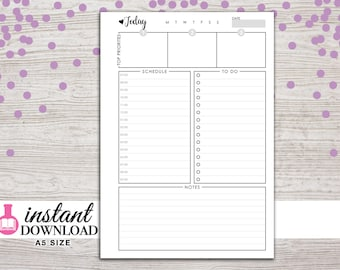 A5 Planner Printable - Daily Inserts - Filofax A5 - Kikki K Large - Design: Wanderlust