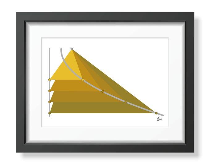 Parabola 03 [mathematical abstract art print, unframed] A4/A3 sizes