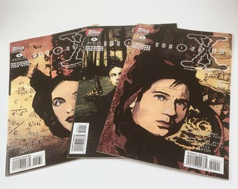 3 X-Files Comics, Number 0, 3 Variant Covers, Pilot Episode, Topps Comics, Mulder, Scully, Truth is Out There, Collectors Item Issue