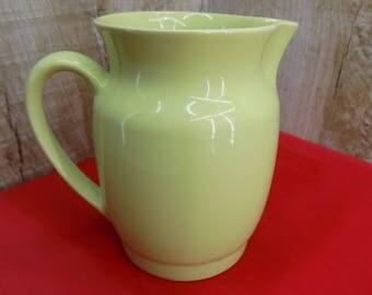 Vintage mint green milk jug Soviet ceramic milk pitcher Russian green jug Made in USSR 70s