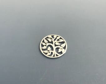 Sterling Silver Tree of Life Filigree Charm