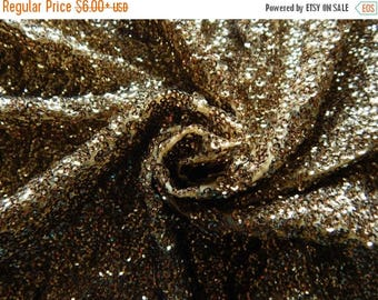 10% OFF Gold Sequined Fabric, Georgette Fabric, Sequin Fabric, Glitter Fabric, Party Wear Fabric, Gold Shimmer Fabric