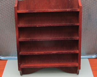 Vintage wooden Display Shelf - Ideal for Curios/Shadow Box/Miniature Display/Thimbles
