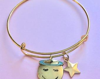 Halo Emoji Charm Bracelet