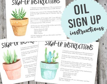 Enrollment Instructions, YL Sign Up Sheets, Oil Sign Up, Essential Oil Sign Up