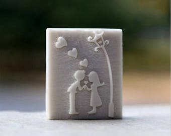 Loving Couples Wedding Soap Stamp Mold for Handmade Crafts Acrylic