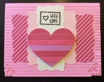 "Valentine - ""With Love"", Homemade Valentine Card"