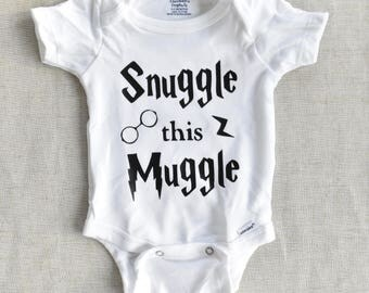 Harry Potter Baby Clothes, Snuggle This Muggle Onesie, Baby Clothes, Baby Girl Clothes, Baby Boy Clothes, Baby Harry Potter Onesie