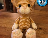 Amigurumi Cat Pattern, crochet cat pattern, cat pattern, amigurumi kitten pattern, crochet kitten pattern