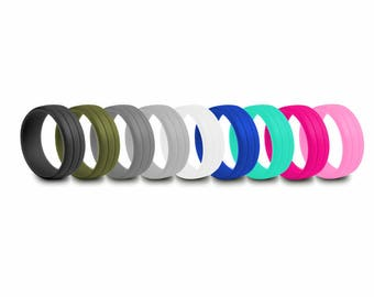 Silicone Ring Wedding Rubber Band Medical Grade Hypoallergenic Mens Engagement Ring Women Jewelry