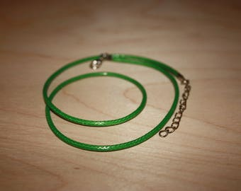OIL GREEN COTTON CORD FOR JEWELRY LENGTH 40CM