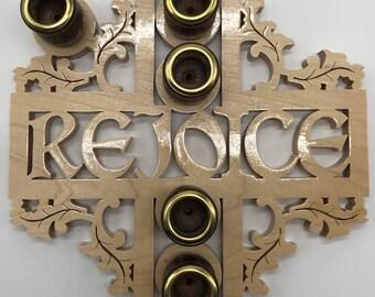 Rejoice Advent Wreath - Maple
