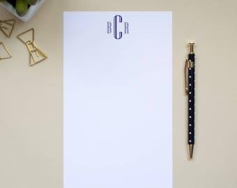 Personalized Monogram Notepad | Simple Monogram Notepad | Custom Notepad