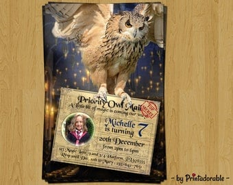 Digital Harry Potter Invitation, Harry Potter Birthday Invitation, Birthday PARTY SET for Harry Potter party