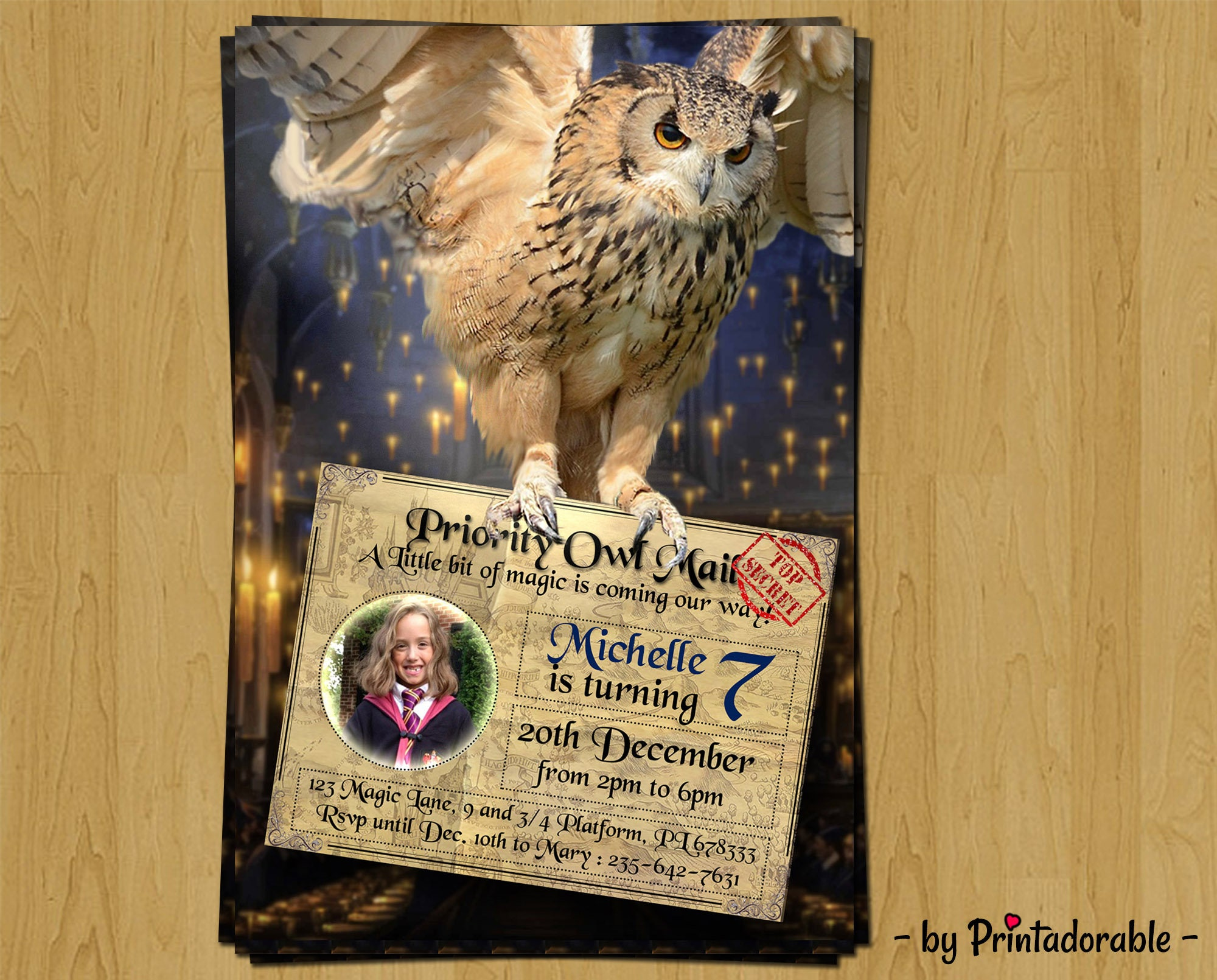 Digital Harry Potter Invitation Harry Potter Birthday Invitation – Harry Potter Birthday Invitation
