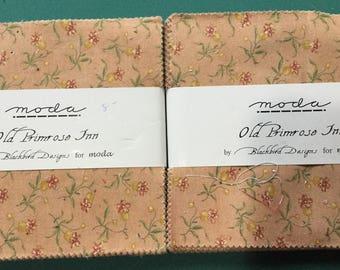 2 Moda Old Primrose Inn by Blackbird Designs Charm Packs