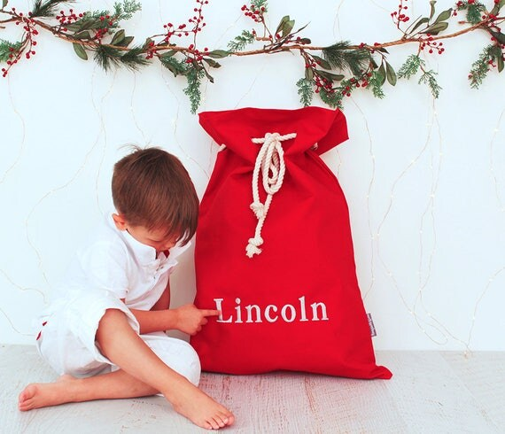 Personalised Santa Sack Silver