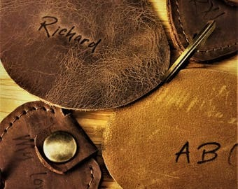 Add personalized Stamp to any Leather Item, personalized Leather Embossing, Initials Leather engrave, Personalizing Leather bags and items